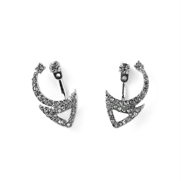 Crescent Ear Jacket Earrings