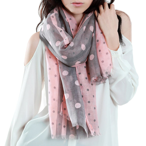 Pink Stripes & Dots Scarf