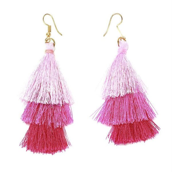 Pink Tutu Tassel Earrings