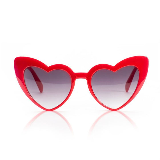 Red Heart-Shaped Sunglasses