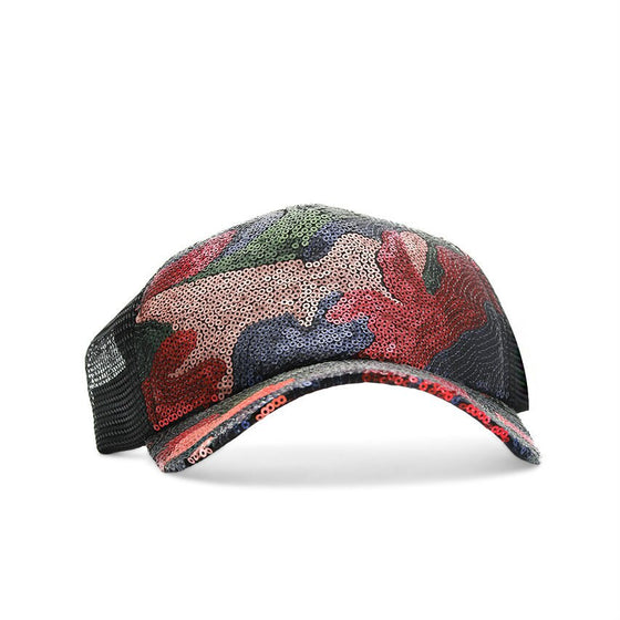 Red Multi Sequin Cap