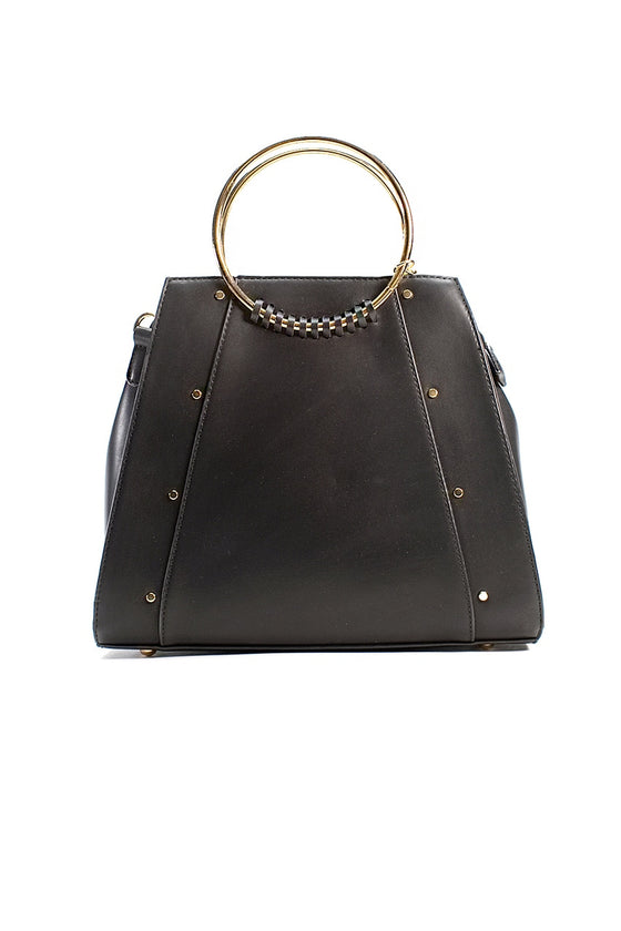 Black Structured Purse