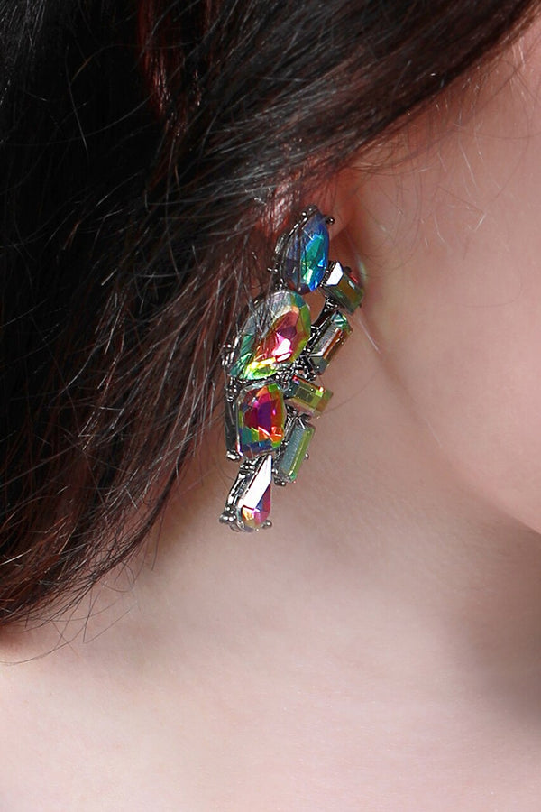 Colorful Jeweled Costume Earrings