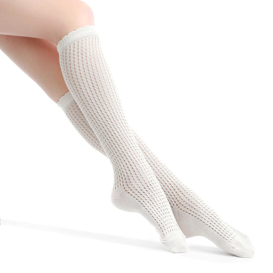 Knee-High Textured Socks