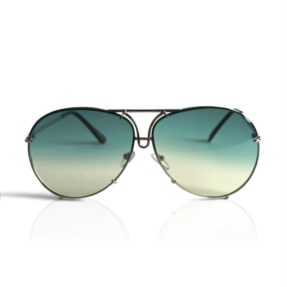 Light Green Aviator Sunglasses