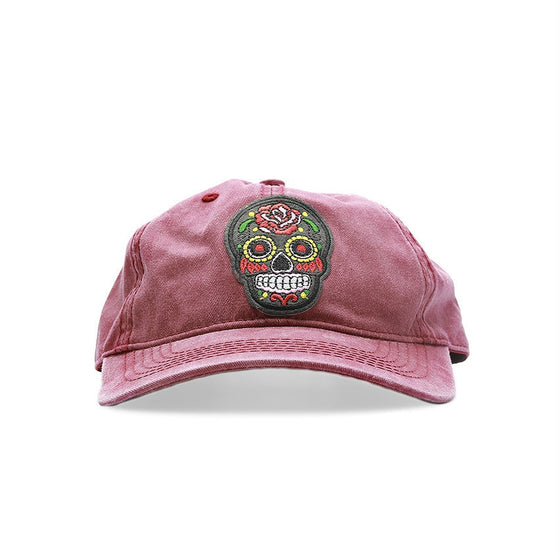 Red Sugar Skull Cap