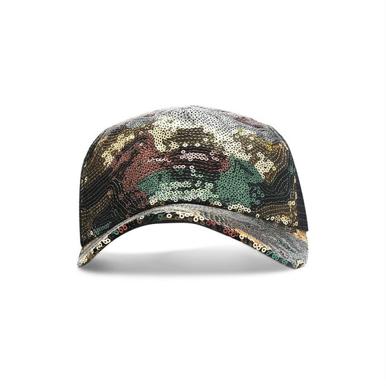 Green Multi Sequin Cap