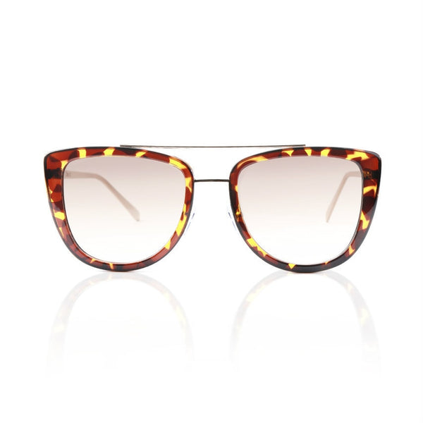 Brown Tortoise Modern Cat Eye Sunglasses