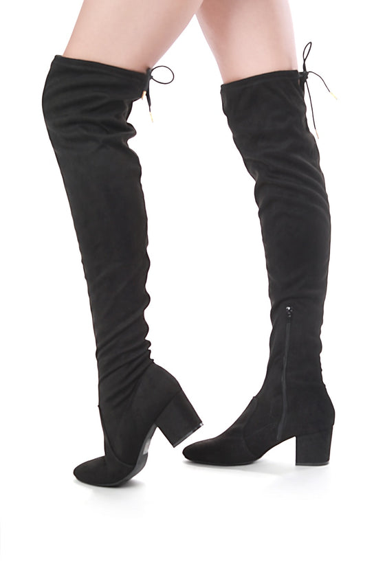 Thigh High Legging Boots (Black)
