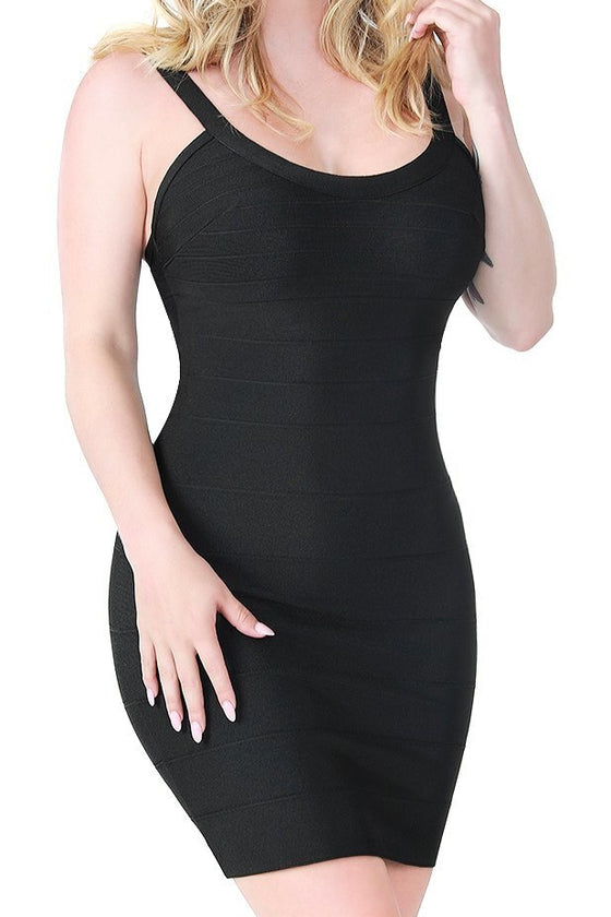 Black Tempt Bandage Dress