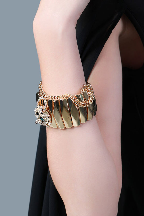 Gold Panther Cuff