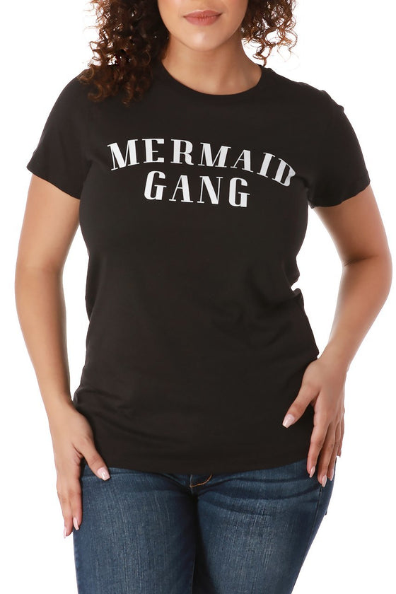 Black Mermaid Gang Tee