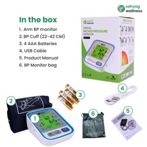 Sahyog Wellness Fully Automatic 3 Colored Display Upper Arm Blood Pressure Monitor