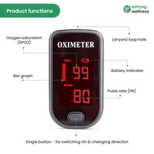 Load image into Gallery viewer, Sahyog Wellness LED Type Fingertip Pulse Oximeter (Black)