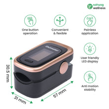 Load image into Gallery viewer, Sahyog Wellness Next Gen OLED Type Fingertip Pulse Oximeter with Recording Feature