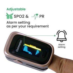 Sahyog Wellness Next Gen OLED Type Fingertip Pulse Oximeter with Recording Feature