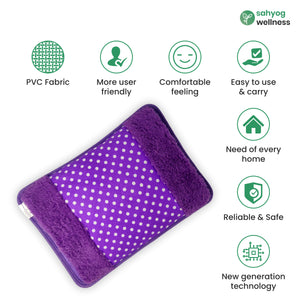 Sahyog Wellness High Quality Velvet Electrical Gel Hot Water bottle (Multi color) (Color May Vary)