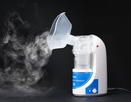 Sahyog Wellness Ultrasonic Nebulizer Machine (MY - 520A) with Nebulizer Kit including Children and Adult Masks