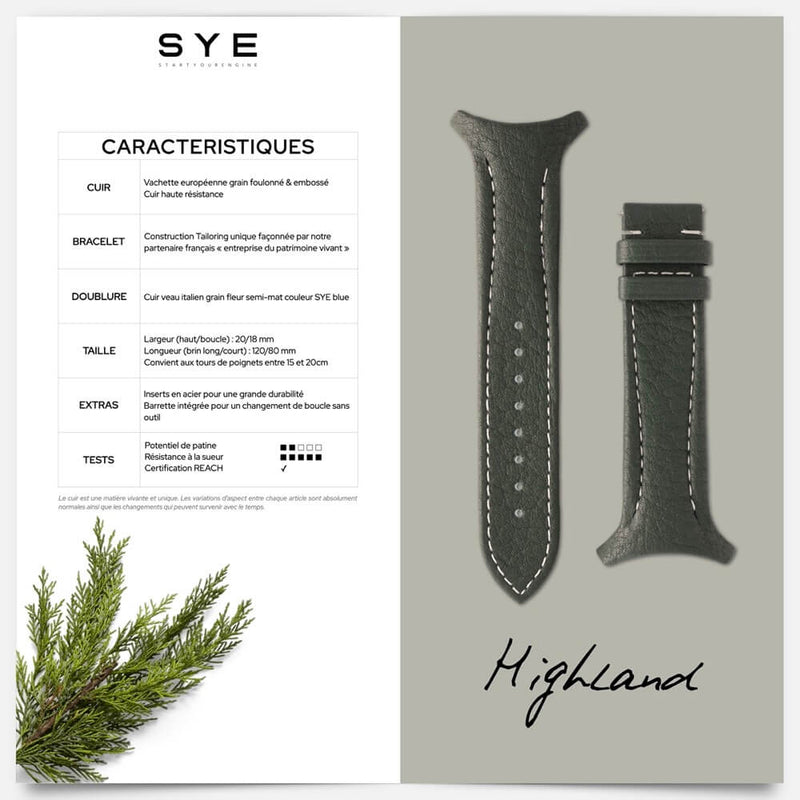 Fastback Premium strap [Highland]-[variant_title]-sye-start-your-engine-watches-montres