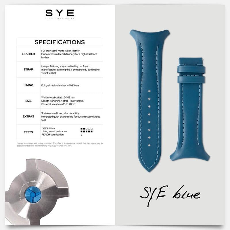 Fastback Premium strap [SYE blue]-[variant_title]-sye-start-your-engine-watches-montres