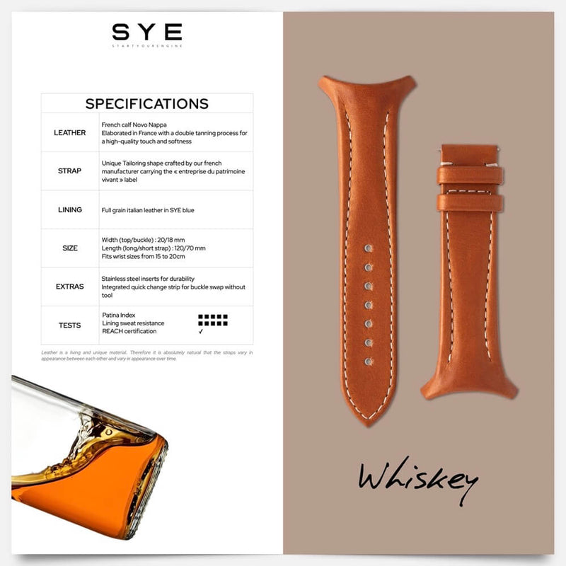 Fastback Premium strap [Whiskey]-[variant_title]-sye-start-your-engine-watches-montres