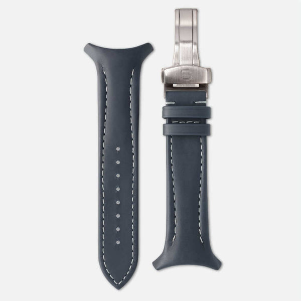 Fastback Premium strap [Petroleum]-Strap + folding clasp-sye-start-your-engine-watches-montres