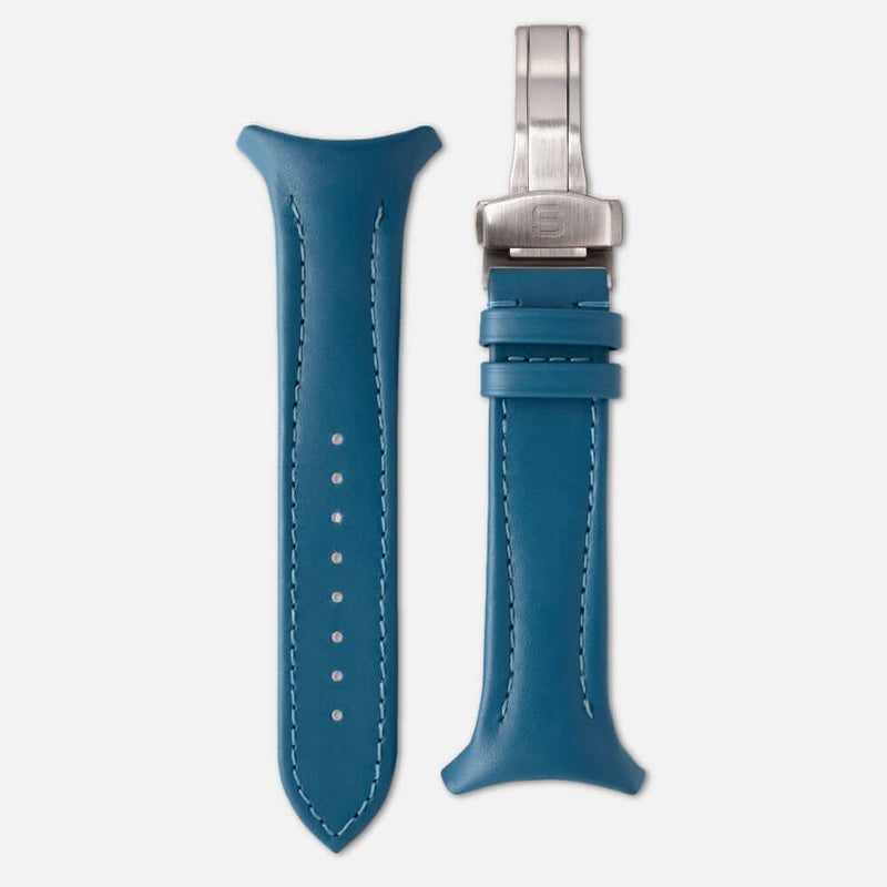 Fastback Premium strap [SYE blue]-Strap + folding clasp-sye-start-your-engine-watches-montres