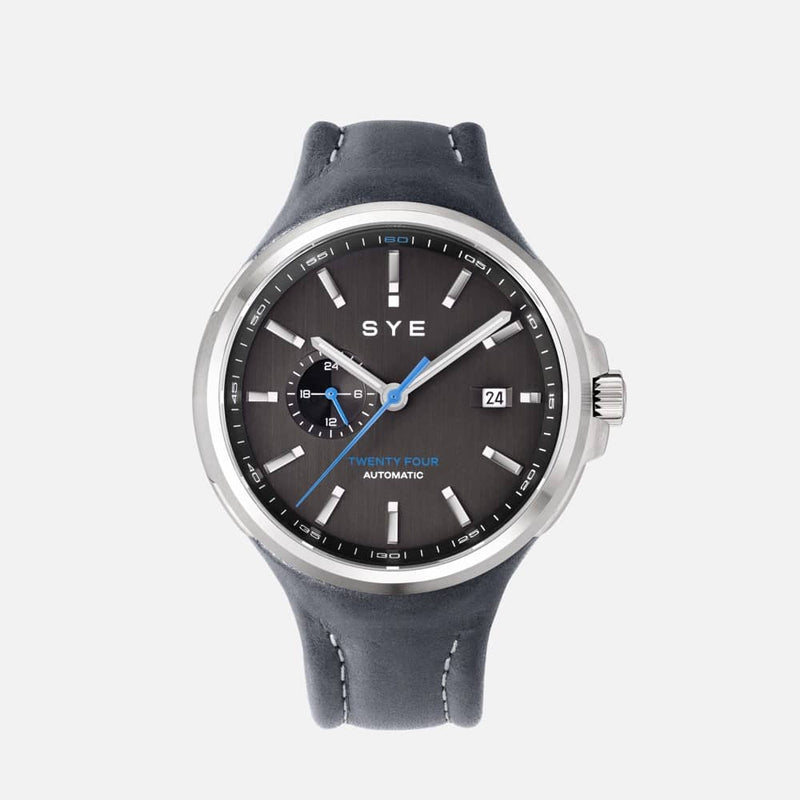SYE MOT1ON Automatic 24 [Black edition]-Petroleum-sye-start-your-engine-watches-montres