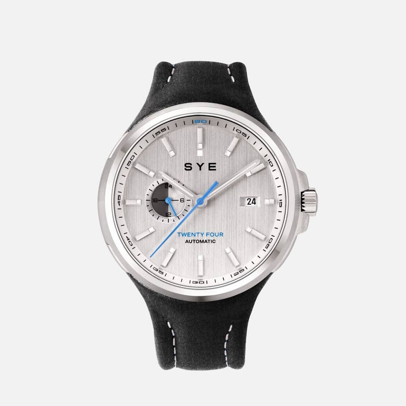 SYE MOT1ON Automatic 24 [Silver edition]-Asphalt-sye-start-your-engine-watches-montres