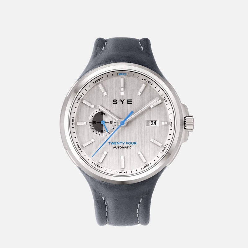 SYE MOT1ON Automatic 24 [Silver edition]-Petroleum-sye-start-your-engine-watches-montres