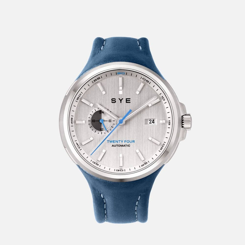 SYE MOT1ON Automatic 24 [Silver edition]-SYE blue-sye-start-your-engine-watches-montres