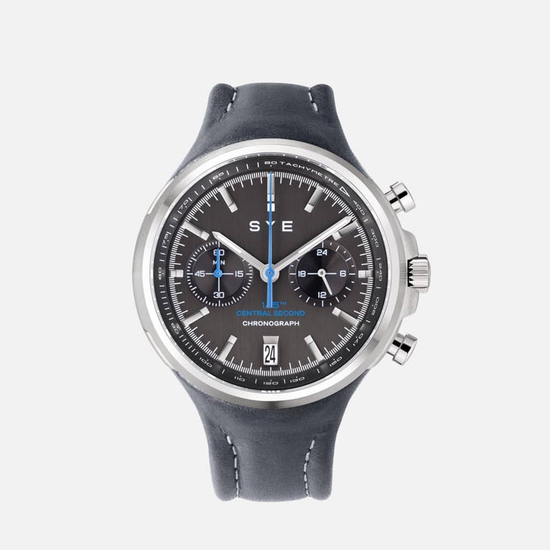 SYE MOT1ON Chronograph [Black edition]-Petroleum-sye-start-your-engine-watches-montres