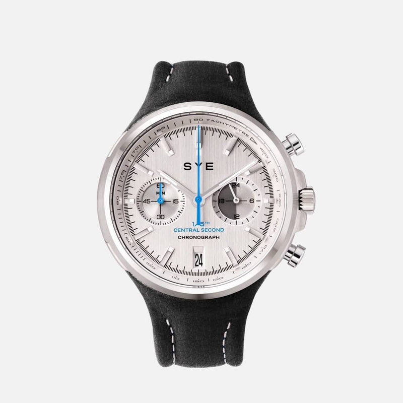 SYE MOT1ON Chronograph [Silver edition]-Asphalt-sye-start-your-engine-watches-montres