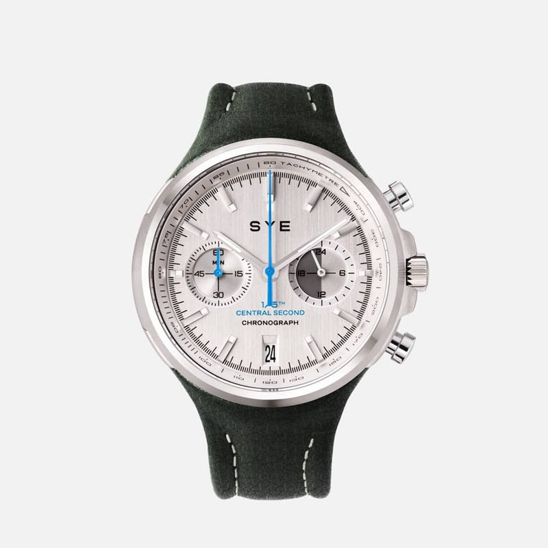 SYE MOT1ON Chronograph [Silver edition]-Highland-sye-start-your-engine-watches-montres