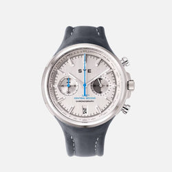 SYE MOT1ON Chronograph [Silver edition]-Petroleum-sye-start-your-engine-watches-montres