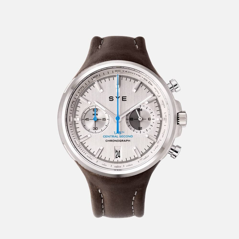 SYE MOT1ON Chronograph [Silver edition]-Skybury-sye-start-your-engine-watches-montres