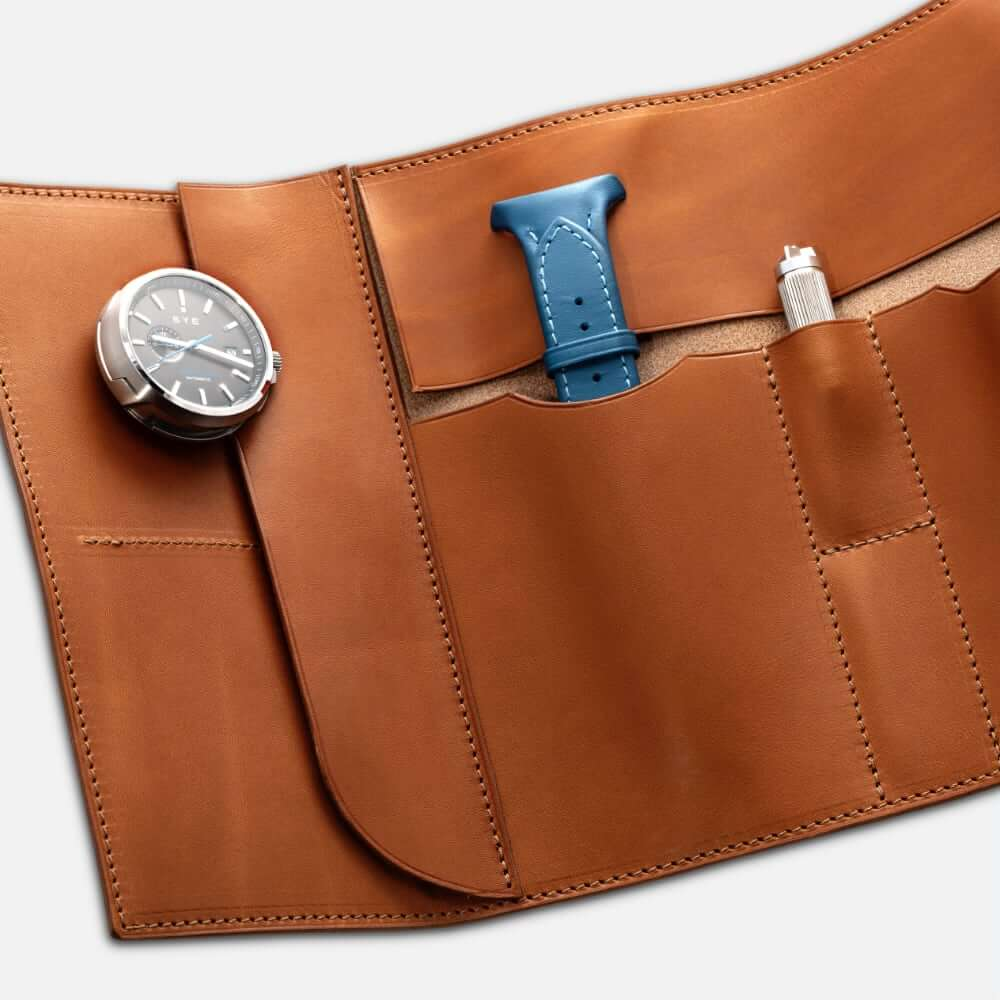 Fastback™ watch roll - whiskey