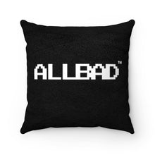 Load image into Gallery viewer, All Bad Faux Suede Square Pillow