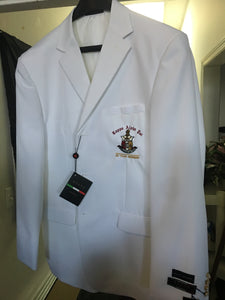 50 Year Member White 2-Button Blazer