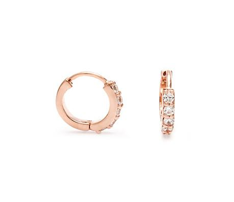 LEAH ALEXANDRA | PAVE HUGGIE HOOP EARRINGS