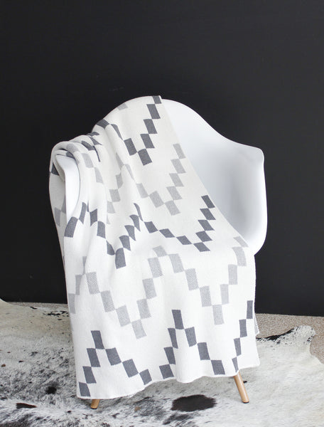 Mood Living | Block Chevron Throw Blanket