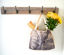 Seed Catalog Shopping Tote bags - Newsprint Farmers Market series