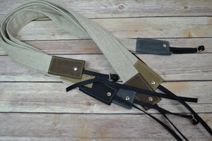 demi - camera strap / linen & waxed canvas