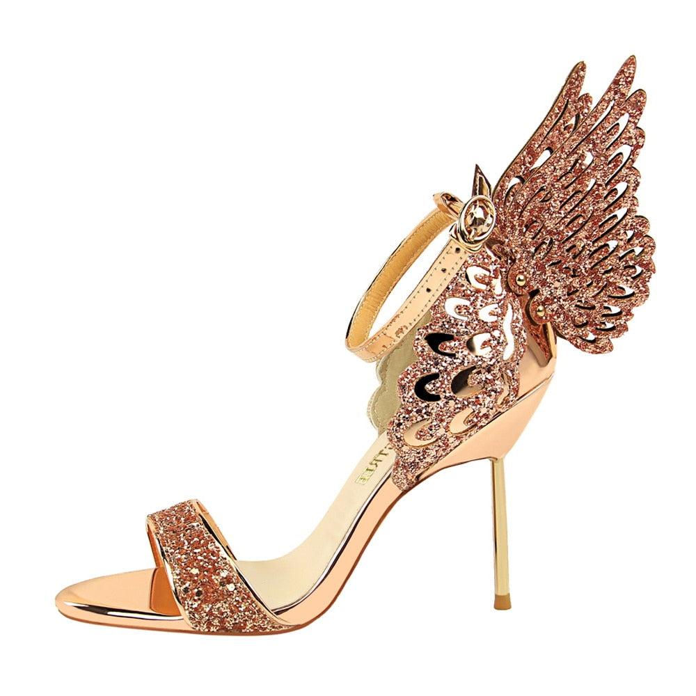ead47f642754 Bling Sequined Glitter Butterfly Wing Shoes – Glitzy Glam Shop