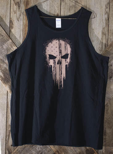 Black Sleeveless Punisher Shirt