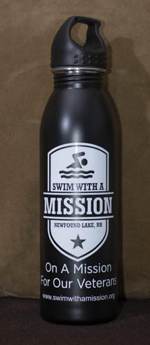 Black SWAM Water Bottle