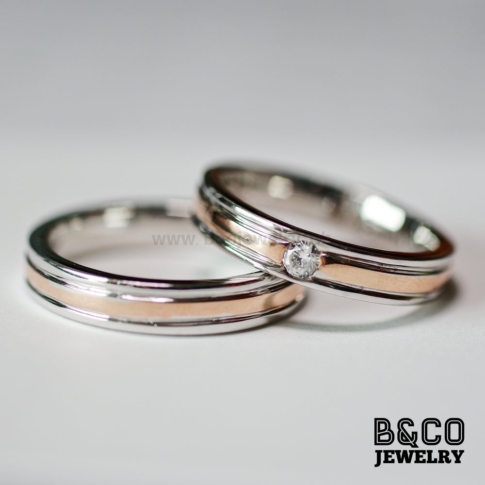 Tallinn Two Tone Wedding Rings