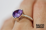 3ct Heart Gemstone Ring
