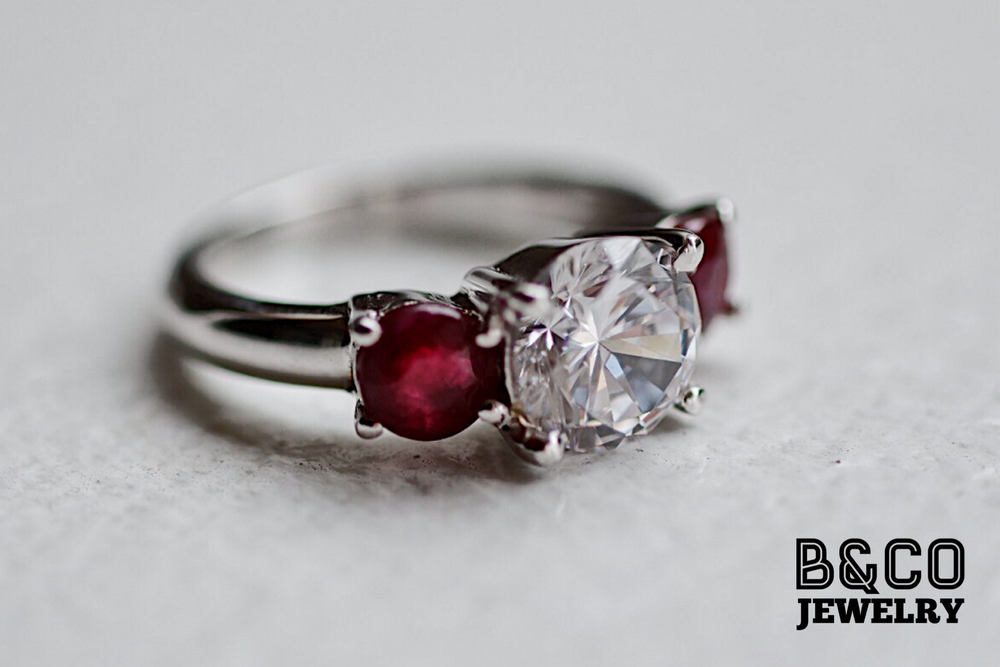 1.5ct Bordeaux Gemstone Ring