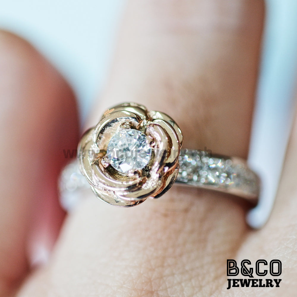 1.5ct Rose Two Tone Engagement Ring